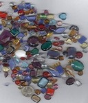 105x glass 1/2LB of glass stones