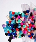 188x plastic multicolor 10mm flowers per gross