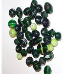 234q Handmade Glass Bead Mix green