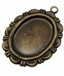 18x13 Antiqued Brass Setting with Ring 372x
