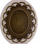 Antique Bronze 40x30 Filigree Setting 409x