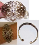 Antique Bronze Cuff Bracelet with Filigree 414x