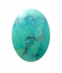 25x18 Dyed Howlite Turquoise Cabochon 474x