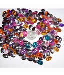 resin 14x10 Faceted Stone Mix -  200pc  lot -  505x