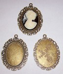 Antique Bronze 40x30 Cameo Setting with Ring 508x