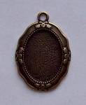 Antique Bronze 25x18 Setting with ring 579x