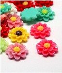 18mm Mixed Resin Flower Decoration DOZEN PACK 693x