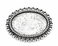 Antique Silver 25x18mm Cameo Pendant Setting Filigree Style  799x