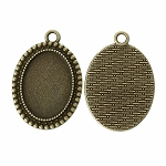 Antique Bronze 25x18mm pendant Setting with Loop Item 804x