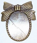 30x22mm Antique Bronze Cameo Setting with Bow and Hole 862x
