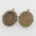 18x13mm Antique Bronze Cabochon Pendant Setting 881x
