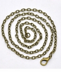 18 inch Antique Bronze Cable Chain Jewelry Necklace Links 4x2.5mm 945x