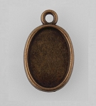 14x10mm Antique Bronze Cabochon Pendant Setting 961x