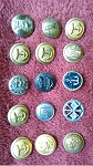 Antique Buttons Vintage Military Buttons Uniform Button B521