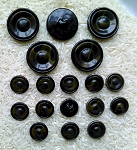 18 Celluloid Bakelite retro composite buttons  matching set BD10