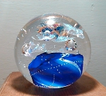 Gary Zack Cobalt 2003 Art Glass Studio Paperweight