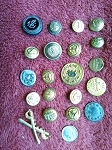 Antique Buttons Vintage Military Buttons Uniform Button B522