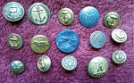 Antique Buttons Vintage Military Buttons Uniform Button B523