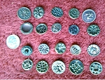 Antique Buttons Lot 20pcs. Sewing Collectable Victorian Design  B527