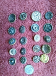 Antique Buttons Lot 20pcs. Sewing Collectable Victorian Design  B528