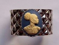Black Woman African American Cameo Cuff Bracelet F125