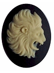 40x30mm Zodiac Leo Lion Resin Cameo Cabochon Birth Sign Astrology 560x