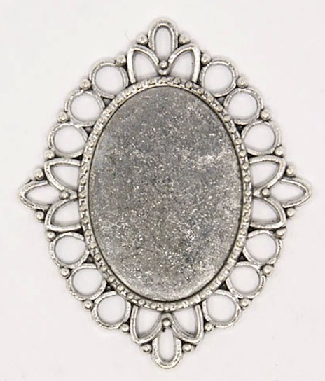25x18mm antique silver cameo cabochon pendant setting frame 771x quick view aloadofball Gallery