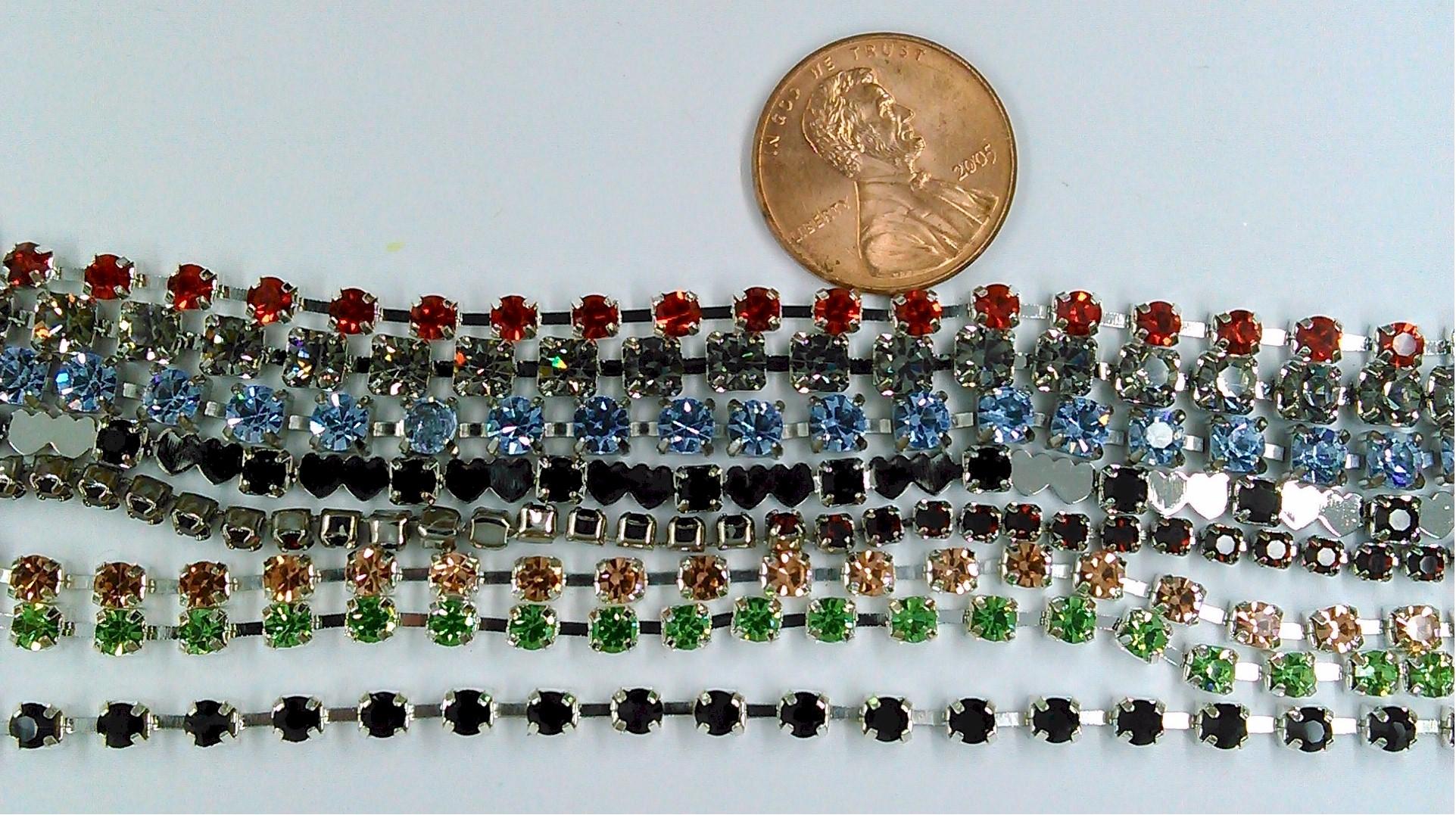 2000 pcs small GLASS RHINESTONES Clear Colored jewelry repair lot  S2114