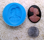 Food Safe Silicone Mold Black African American Woman for candy soap clay