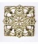 101x Gold square Filigree