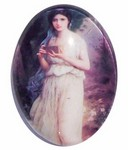 40x30mm Glass Cabochon Victorian Lady Photo Under Glass 178x