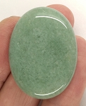 40x30mm Green Aventurine Flat backed gemstone cabachon semi-precious stone S4056