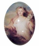 227x Glass 40x30 Victorian Lady Cameo