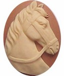 253x resin 40x30 Tan and Crème Horse Cameo