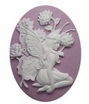 40x30mm Lilac Fairy Resin Cabochon Cameo Jewelry Finding 265x