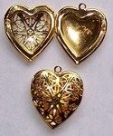 Gold Filigree Craft Locket Perfume Heart Locket 284x