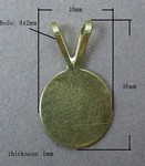 Antique Brass Glue or Solder on Bail with 10mm Pad 368x