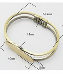 Bronze Hinged Bracelet with 40mm pad 404x