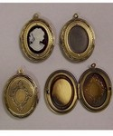 Antiqued Brass Craft Locket 18x13mm Cameo Setting Insert 413x