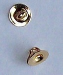 6mm Gold Button Shank Finding Button Back  437x