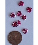 Aluminum Pink Rose 6mm 444x DOZEN PACK