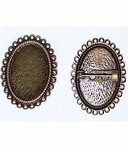 25x18 Antique Bronze Setting with Pinback 468x