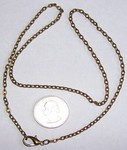 Antique Bronze 20 inch Cable  Chain Necklace 4x2.5mm 502x