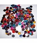 resin 12mm Flat Backed Stone Mix -  2 ounce lot -  503x