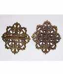 Antique Bronze 42mm Filigree with Pin Back 510x