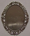 40x30mm Cameo Setting Bright Silver Finish Tray no pin 517x