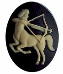 40x30mm Sagittarius Zodiac Resin Cameo Cabochon Astrological Birth Sign  562x