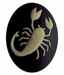 40x30 Resin Zodiac Scorpio Cameo Black and Ivory 563x