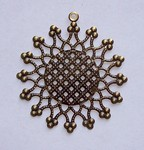 50mm Antique Bronze Round Filigree with Ring 570x