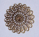 Antique Bronze 45mm Round Filigree 572x